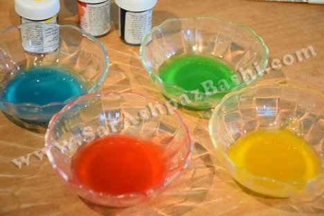 کردن پایپینگ ژل - مضرات رنگهای خوراکی